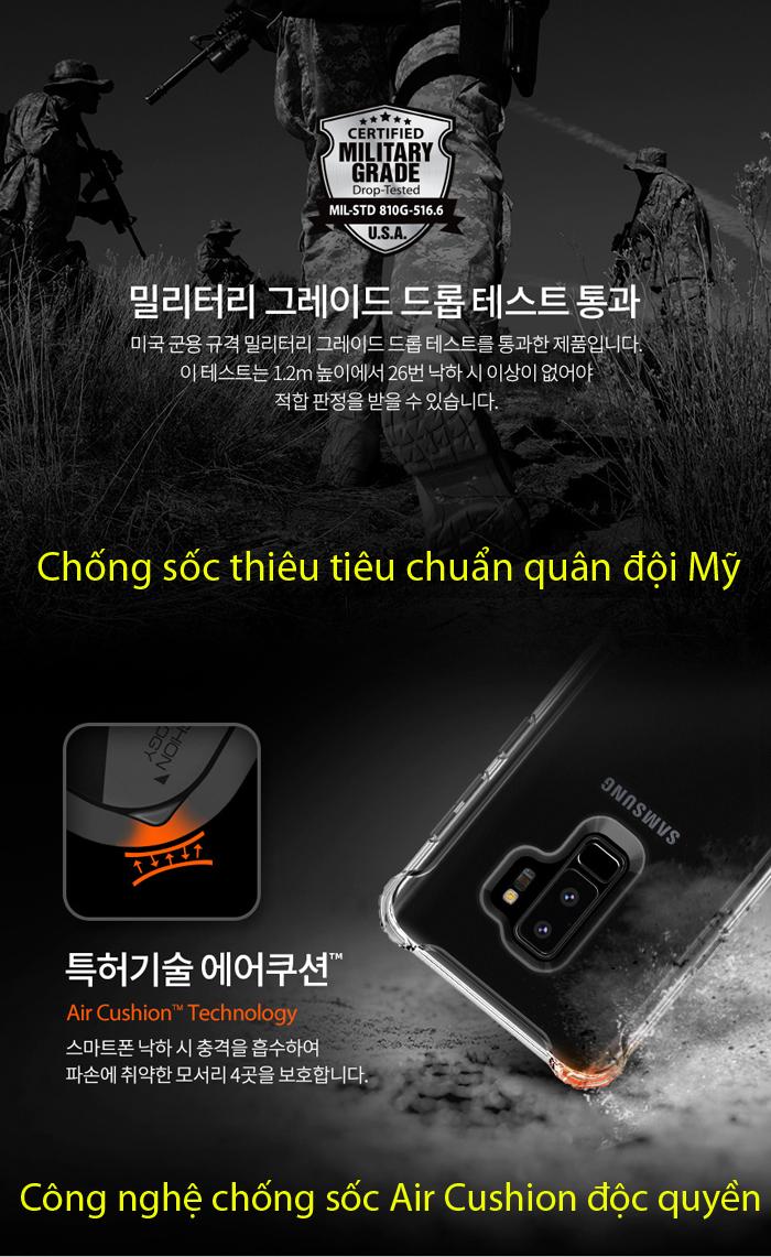 Ốp lưng Galaxy S9 Plus Spigen Ultra Hybrid lưng trong viền mềm từ USA 2