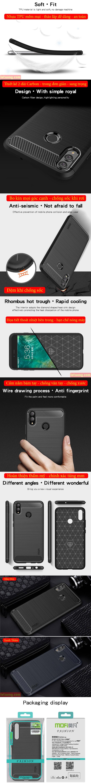 Ốp lưng Honor 8X Mofi Carbon Fiber nhựa mềm - chống vân tay 6