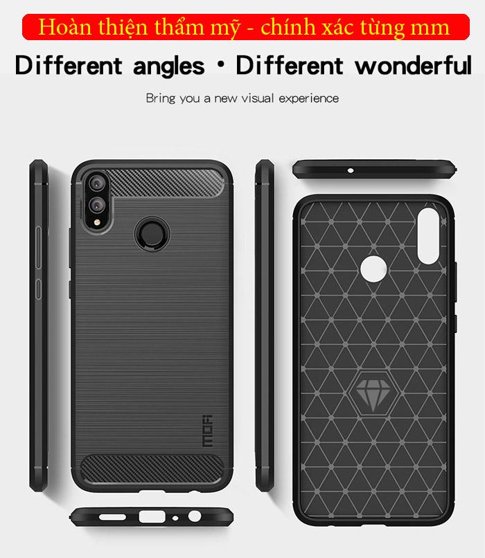 Ốp lưng Honor 8X Mofi Carbon Fiber nhựa mềm - chống vân tay 4
