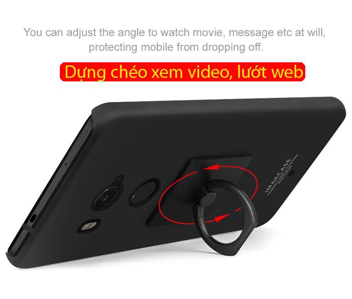 Ốp lưng HTC U11 Plus Imak Cowboy vân cát + Móc treo 2