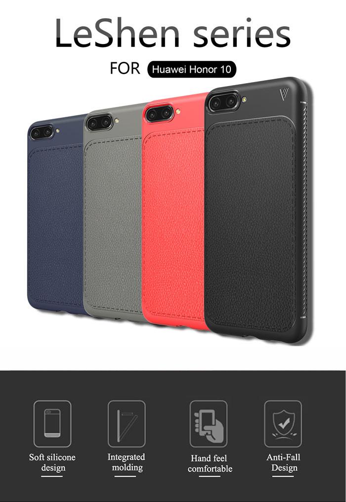 Ốp lưng Huawei Honor 10 Leshen Serie vân da sang trọng - chống vân tay 4