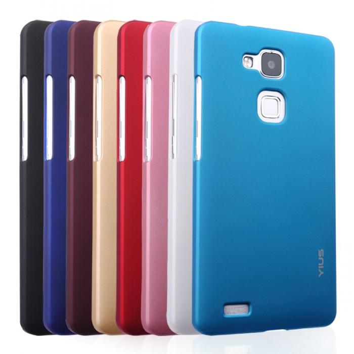 Ốp lưng Huawei Mate 7 Yius Case lưng nhung mịn, chống vân tay 5