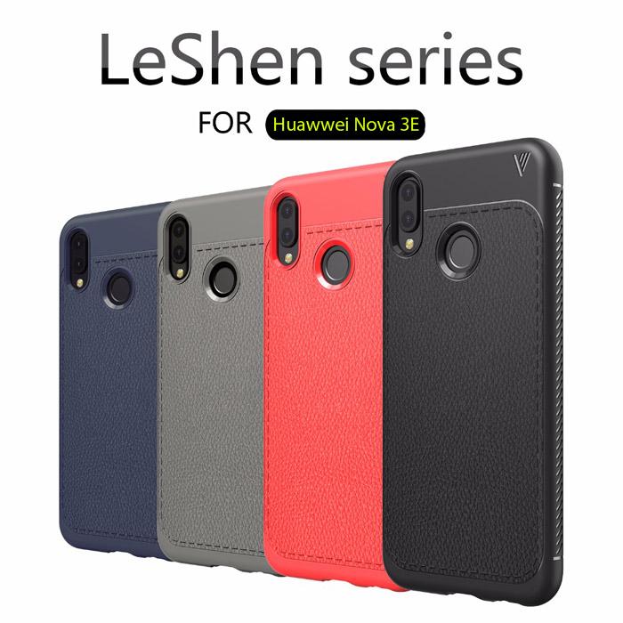 Ốp lưng Huawei Nova 3E Lenuo Leshen Serie vân da sang trọng 1