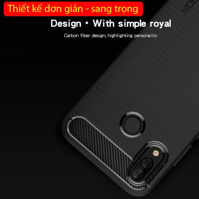 Ốp lưng Huawei Nova 3i Mofi Carbon Fiber nhựa mềm - chống sốc 1