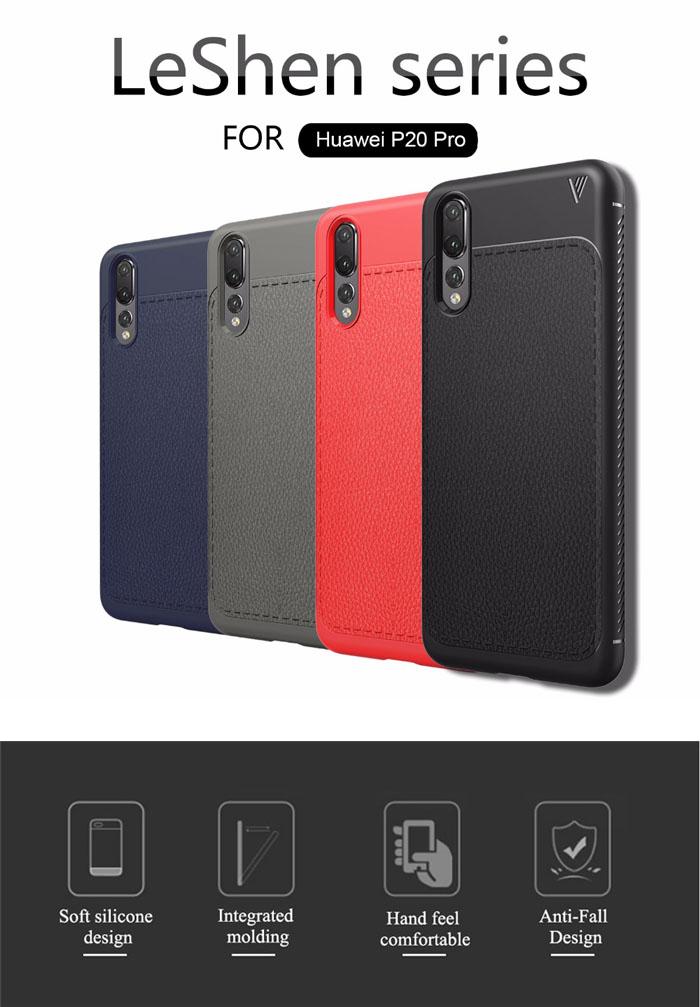 Ốp lưng Huawei P20 Pro Lenuo Leshen Serie vân da sang trọng 1