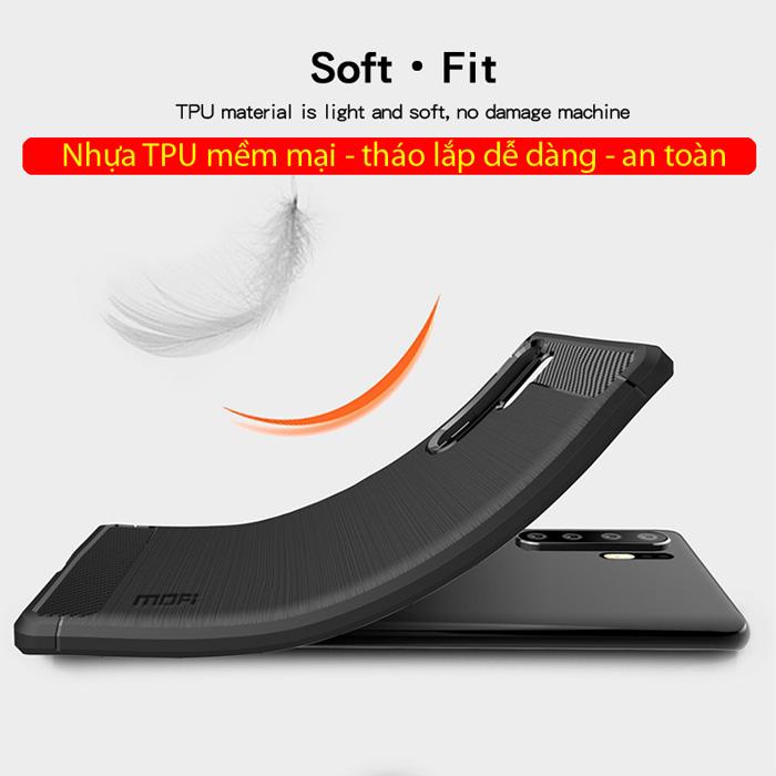 Ốp lưng Huawei P30 Pro Mofi Shen Du Rugged Carbon nhựa mềm - chống vân tay 2