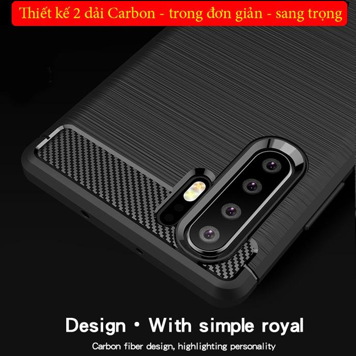 Ốp lưng Huawei P30 Pro Mofi Shen Du Rugged Carbon nhựa mềm - chống vân tay 1