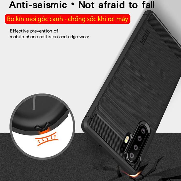 Ốp lưng Huawei P30 Pro Mofi Shen Du Rugged Carbon nhựa mềm - chống vân tay 3