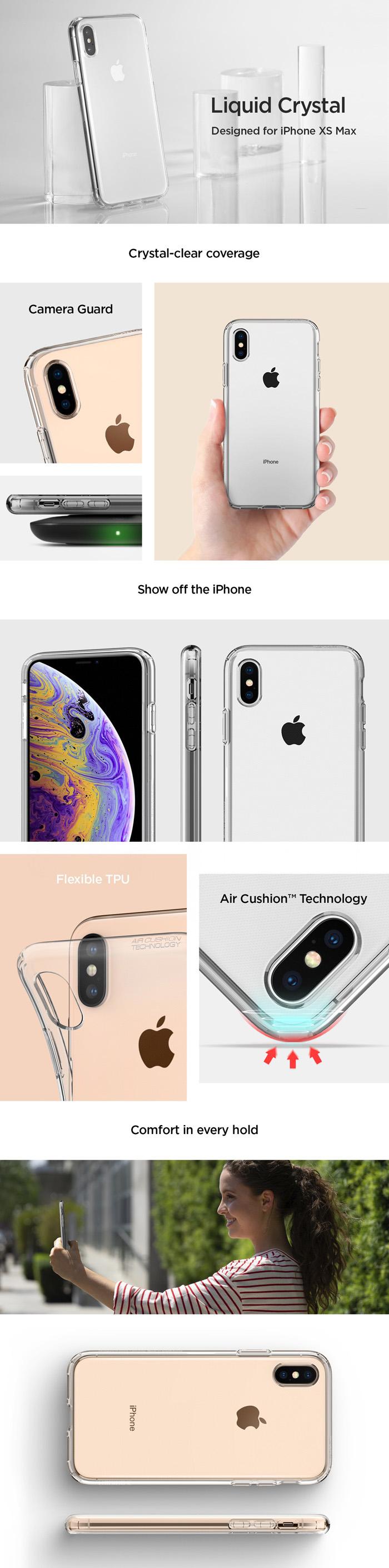 Ốp lưng iPhone Xs Max Spigen Liquid Crystal trong suốt ( Hàng USA ) 6