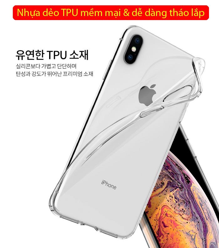Ốp lưng iPhone Xs Max Spigen Liquid Crystal trong suốt ( Hàng USA ) 2