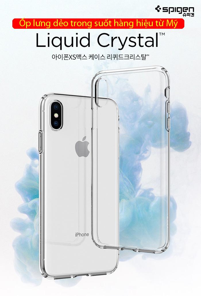Ốp lưng iPhone Xs Max Spigen Liquid Crystal trong suốt ( Hàng USA ) 1
