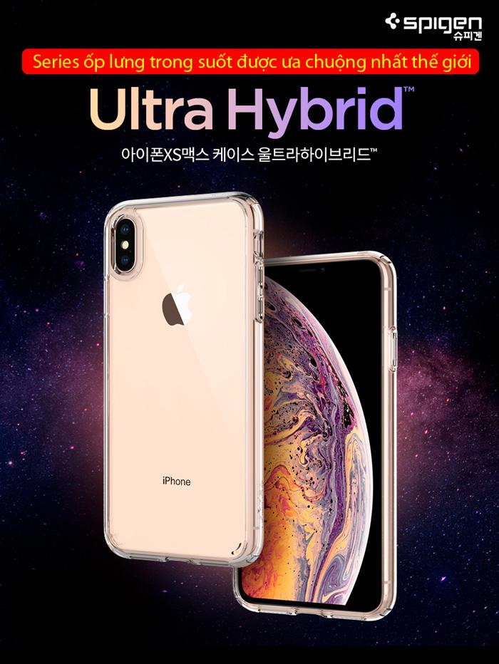 Ốp lưng iPhone Xs Max Spigen Ultra Hybrid trong suốt ( Hàng USA ) 4