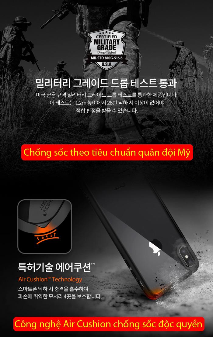 Ốp lưng iPhone Xs Max Spigen Ultra Hybrid trong suốt ( Hàng USA ) 2