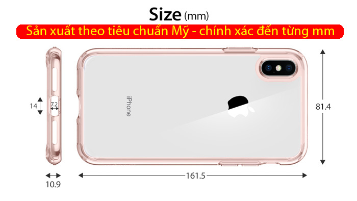 Ốp lưng iPhone Xs Max Spigen Ultra Hybrid trong suốt ( Hàng USA ) 3