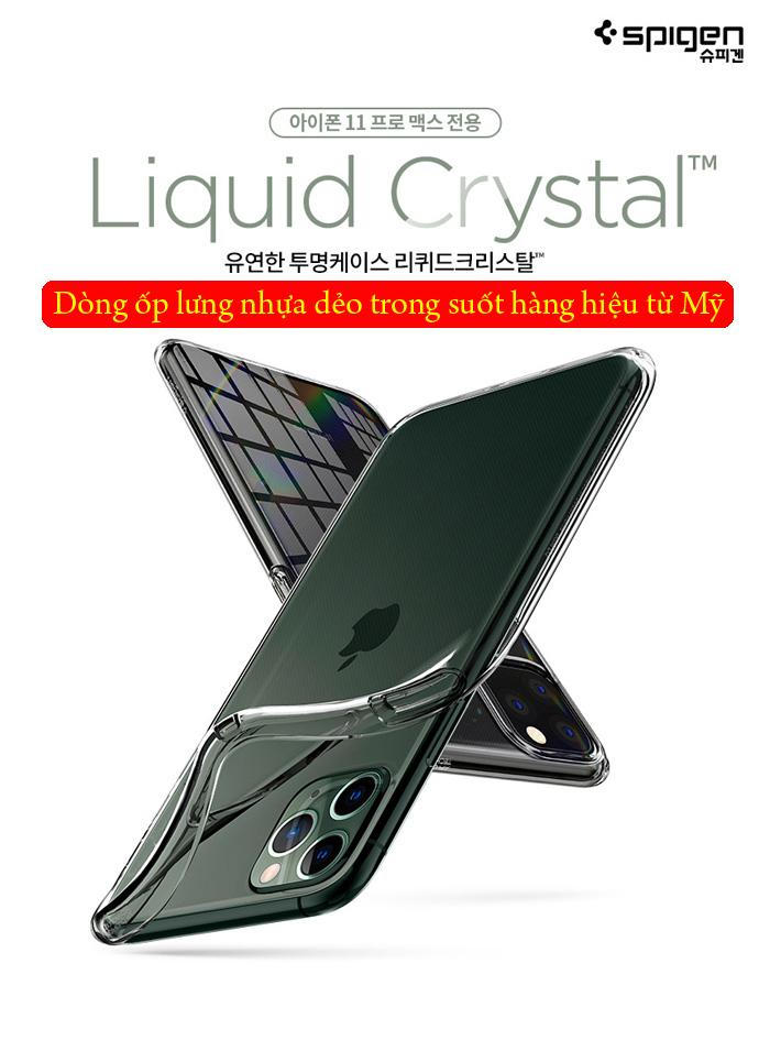 Ốp lưng iPhone 11 Pro Max Spigen Liquid Crystal nhựa mềm trong suốt ( USA ) 1