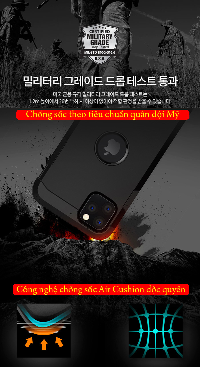 Ốp lưng iPhone 11 Pro Max Spigen Tough Armor chống va đập ( hàng USA ) 3