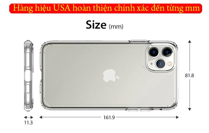 Ốp lưng iPhone 11 Pro Max Spigen Ultra Hybrid trong suốt ( hàng USA ) 3