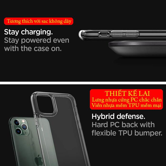 Ốp lưng iPhone 11 Pro Max Spigen Ultra Hybrid trong suốt ( hàng USA ) 1