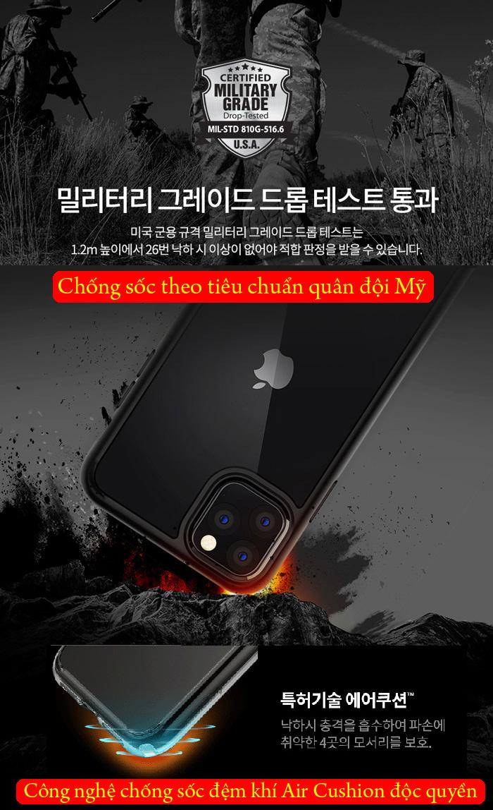 Ốp lưng iPhone 11 Pro Max Spigen Ultra Hybrid trong suốt ( hàng USA ) 2