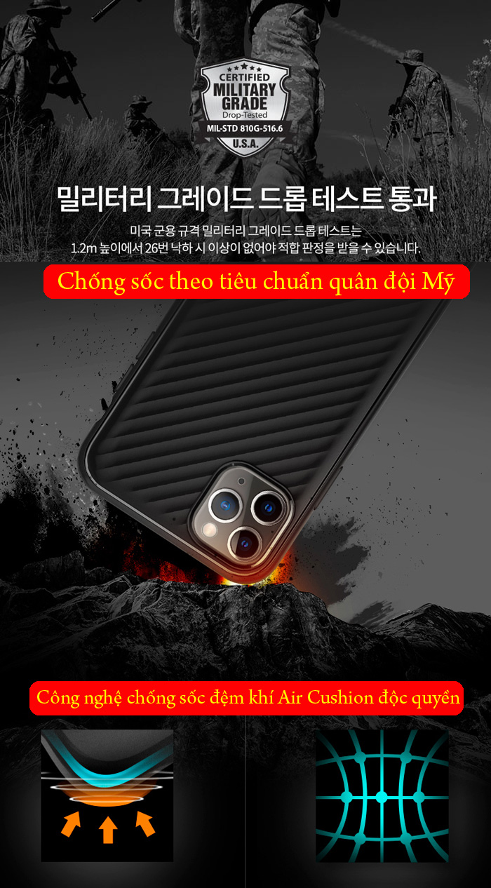 Ốp lưng iPhone 11 Spigen Core Armor  vân gợn sóng ( hàng USA ) 3