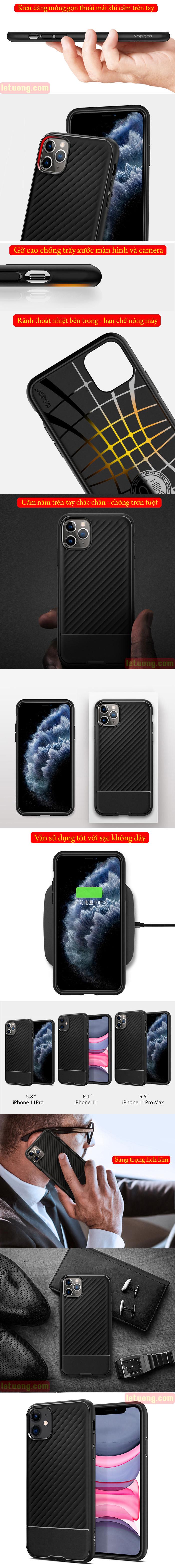 Ốp lưng iPhone 11 Spigen Core Armor  vân gợn sóng ( hàng USA ) 5