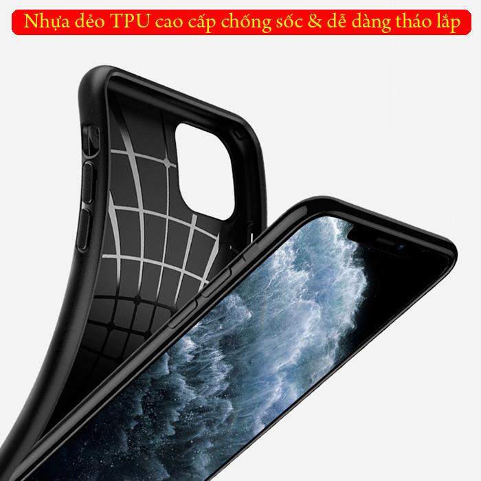 Ốp lưng iPhone 11 Spigen Core Armor  vân gợn sóng ( hàng USA ) 2