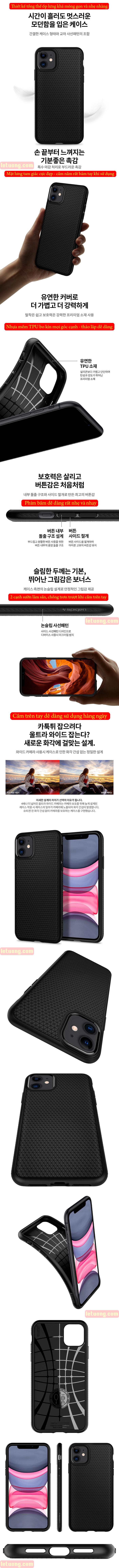 Ốp lưng iPhone 11 Spigen Liquid Air chống trơn tuột ( hàng USA ) 5