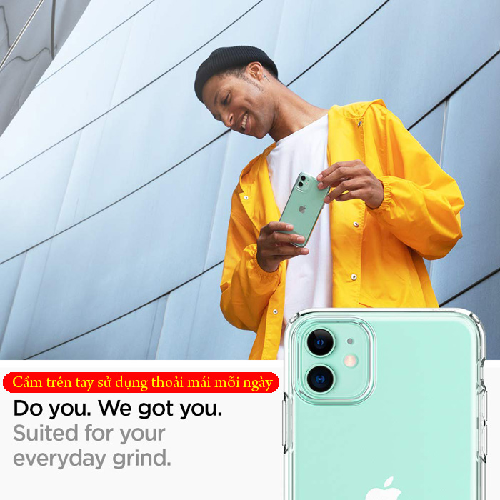 Ốp lưng iPhone 11 Spigen Liquid Crystal nhựa mềm trong suốt ( USA ) 2