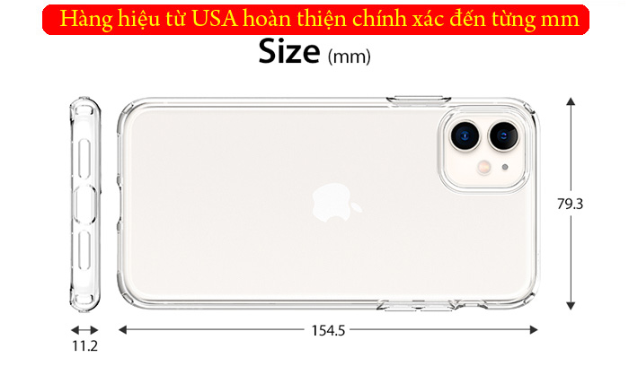 Ốp lưng iPhone 11 Spigen Liquid Crystal nhựa mềm trong suốt ( USA ) 3