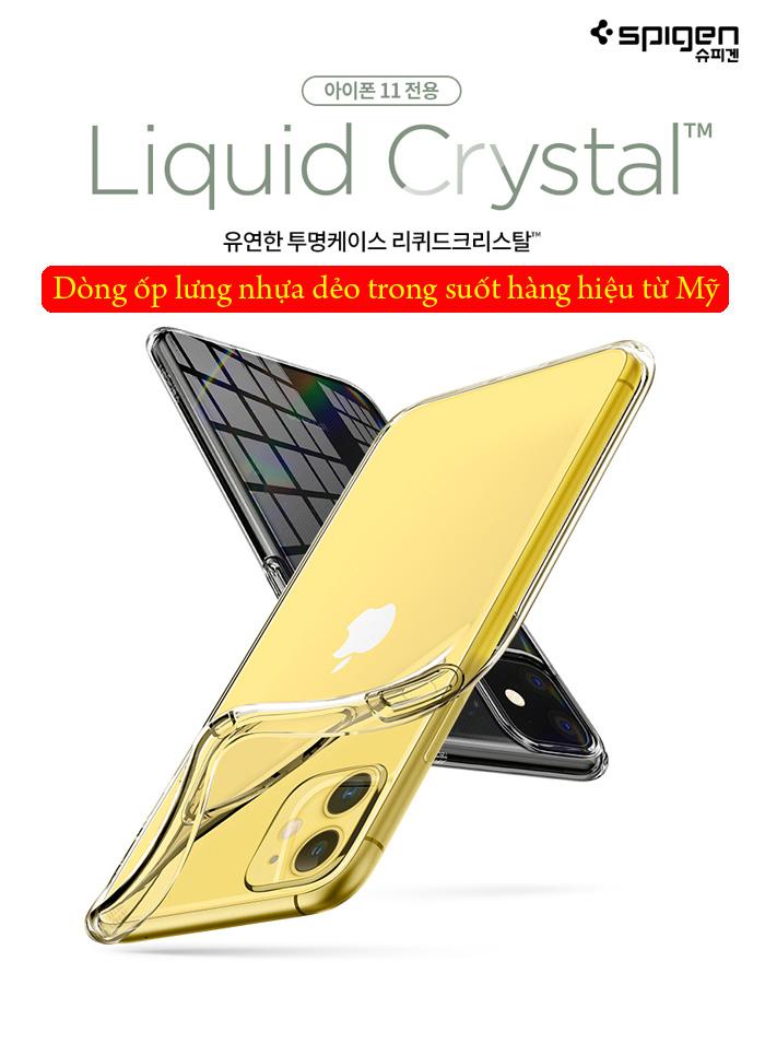 Ốp lưng iPhone 11 Spigen Liquid Crystal nhựa mềm trong suốt ( USA ) 1