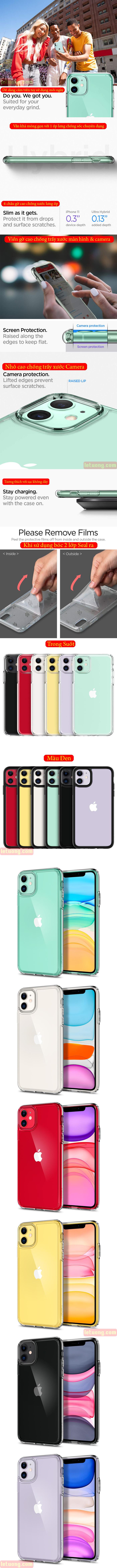 Ốp lưng iPhone 11 Spigen Ultra Hybrid trong suốt chống sốc ( hàng USA ) 5