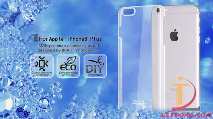 Ốp lưng Iphone 6 Imak trong suốt, lưng phủ Nano chống xước 7