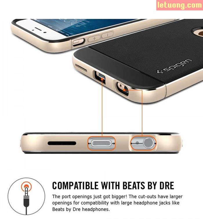 Ốp lưng Iphone 6 Plus/6S Plus Spigen Neo Hybrid Metal từ USA 3