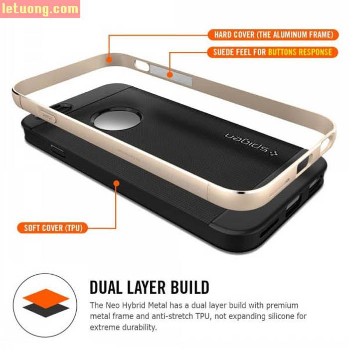 Ốp lưng Iphone 6 Plus/6S Plus Spigen Neo Hybrid Metal từ USA 1