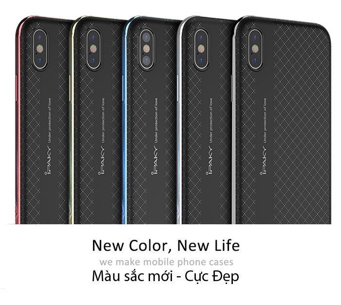 Ốp lưng Iphone X ( iphone 10 ) Ipaky Neo Hybrid viền kép sáng bóng 1