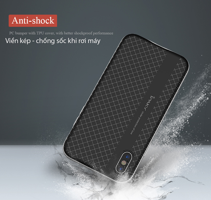 Ốp lưng Iphone X ( iphone 10 ) Ipaky Neo Hybrid viền kép sáng bóng 2