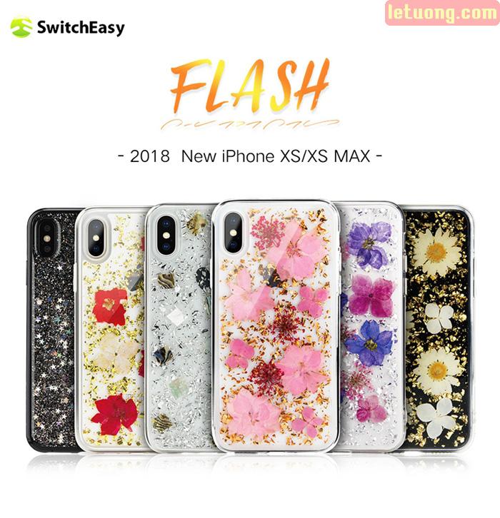 Ốp lưng iPhone Xs Max SwitchEasy Flash 3D - Hoa thật 100% cực độc 2