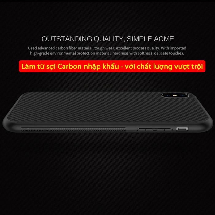 Ốp lưng iPhone Xs Max Nillkin Fiber sợi Carbon đẹp mắt - sang trọng 2