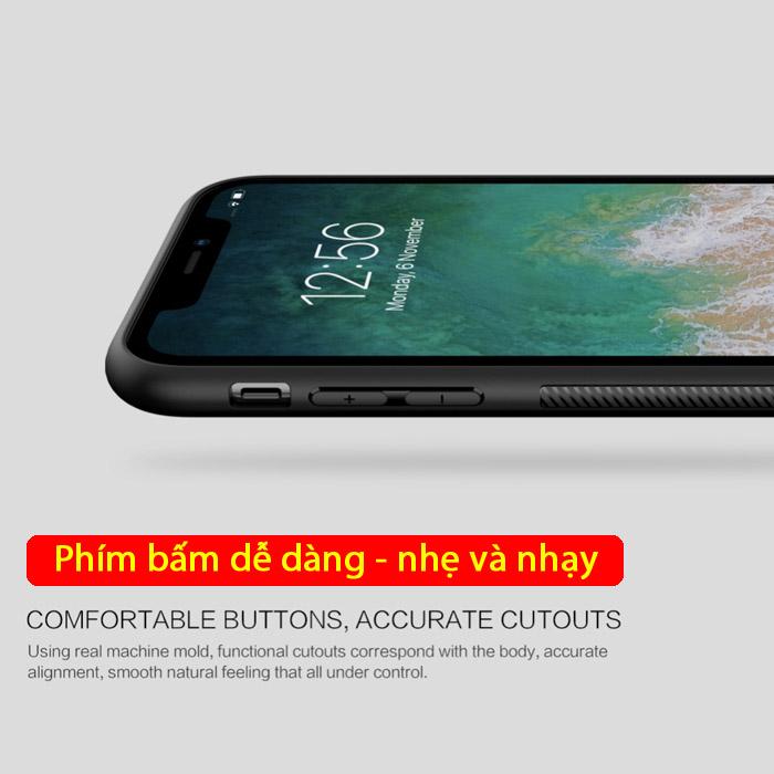 Ốp lưng iPhone Xs Max Nillkin Fiber sợi Carbon đẹp mắt - sang trọng 3