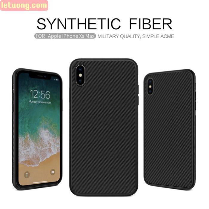 Ốp lưng iPhone Xs Max Nillkin Fiber sợi Carbon đẹp mắt - sang trọng 1