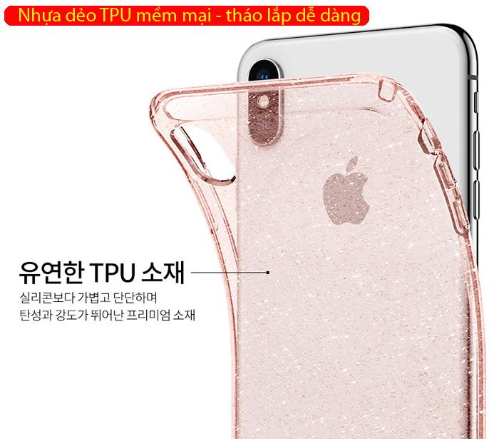 Ốp lưng iPhone Xs Max Spigen Liquid Crystal Glitter kim tuyến ( Hàng USA ) 3