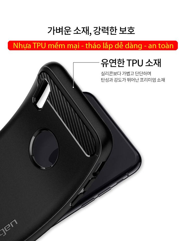 Ốp lưng iPhone Xs Max Spigen Rugged Armor nhựa mềm ( Hàng USA ) 2