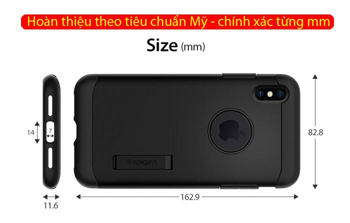 Ốp lưng iPhone Xs Max Spigen Slim Armor chống sốc ( Hàng USA ) 3