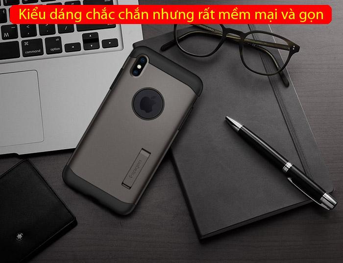 Ốp lưng iPhone Xs Max Spigen Slim Armor chống sốc ( Hàng USA ) 6