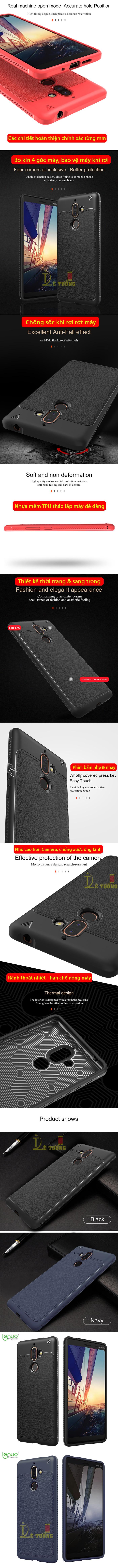 Ốp lưng Nokia 7 Plus Lenuo Leshen Serie vân da sang trọng 4