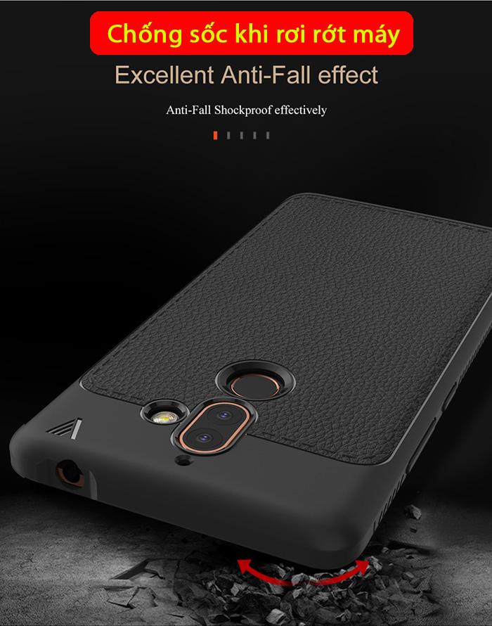 Ốp lưng Nokia 7 Plus Lenuo Leshen Serie vân da sang trọng 3