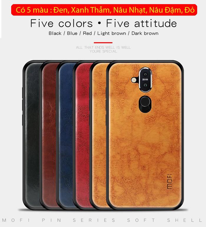 Ốp lưng Nokia 8.1 / X7 2018 Mofi Pin Series vân da - cực đẹp 1