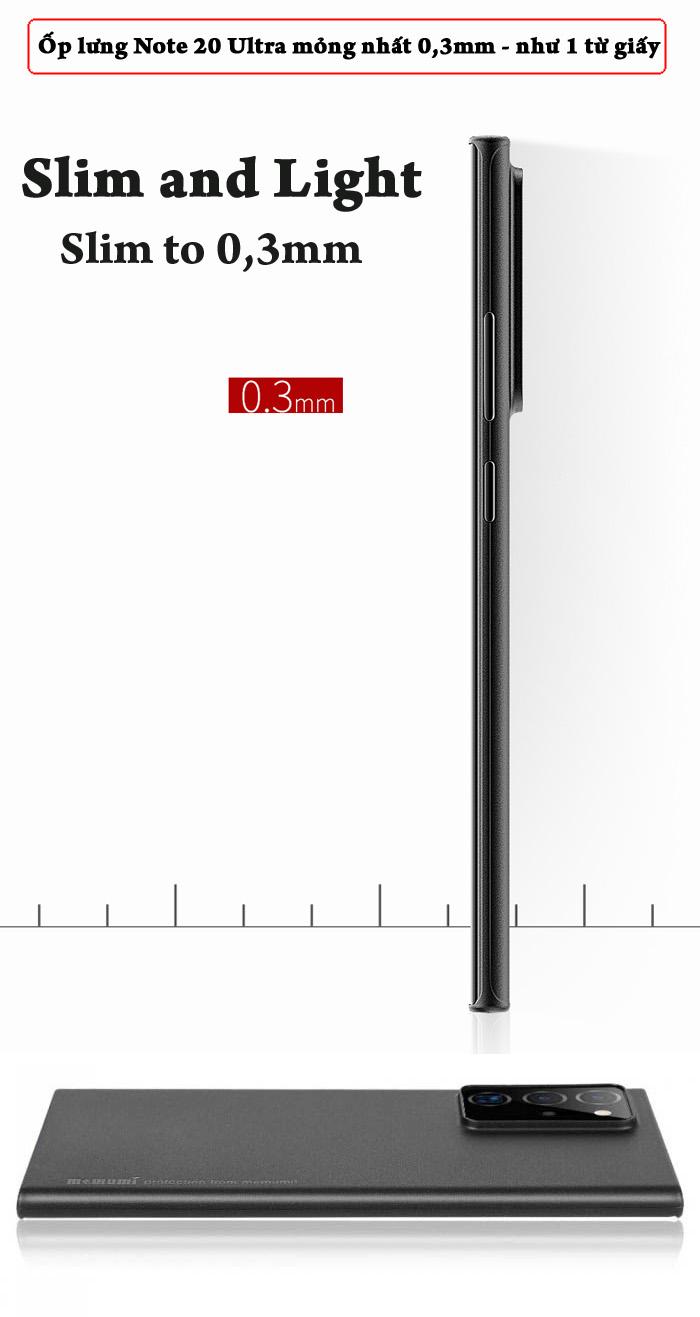 Ốp lưng Note 20 Ultra / 5G Memumi Slim 0.3mm - mỏng như giấy 2