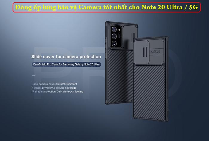 Ốp lưng Note 20 Ultra / 5G Nillkin Camshield Pro bảo vệ Camera 6