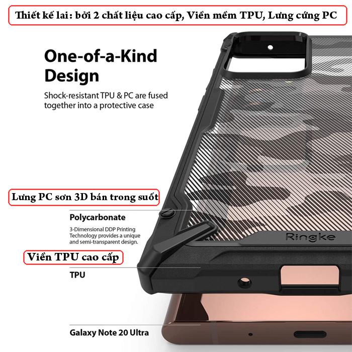 Ốp lưng Samsung Note 20 Ultra / 5G Ringke Fusion X Camo ( từ USA ) 1